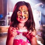 disco face painting